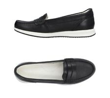 Geox Loafers Moccasins Black Real Leather Rubber Sole Size 4UK 37EU RRP: £195