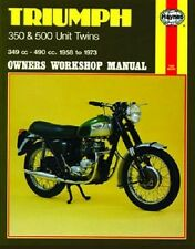 HAYNES SERVICE REPAIR MANUAL TRIUMPH TIGER T100SS 500 1961-1970, T100T 500 66-70