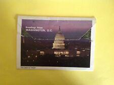 VINTAGE LETTER CARD POSTCARD OF WASHINGTON DC