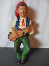 Rare ancienne statue statuette Figurine Santon 32 cm Costume Niçois ?