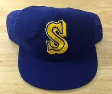 Seattle Mariners Youth SnapBack Vintage 90's Hat Made In USA Original  Licensed