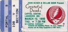 GRATEFUL DEAD TICKET STUB  03-15-1990  CAPITAL CENTRE  ***MAIL ORDER***