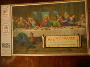 Milton Bradley Vintage Puzzle The Last Supper Leonardo Di Vinci 1960's