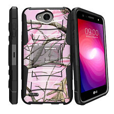 For LG X Power 2, LG Fiesta LTE Case Rugged Holster Clip Stand Cover Camos