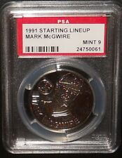 PSA 9 MINT 9 - Mark McGwire 1991 Starting Lineup MLB Coin Oakland Athletics A's