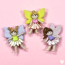 Flower Fairies Craft Buttons Novelty Fairy Girl Magic Plastic Dress It up Garden