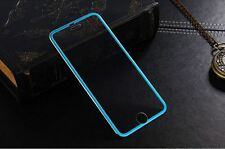 iPhone 6 Tough Tempered Glass Screen Protector Full Edge Curved Titanium - Blue
