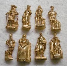Histoire Personnages Historiques Célèbres Rois Reines fève métal or 3d au choix