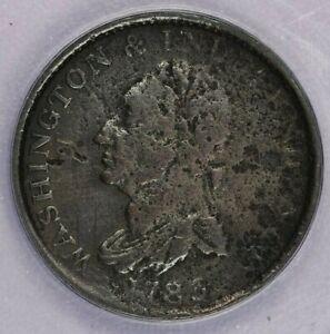 1783 Washington Draped Cent ANACS VF20 Corroded
