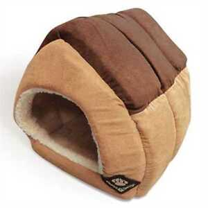 Dog House Bed Large Lightweight Igloo Cave Hideaway Fleece Lined Inner Snug Warm