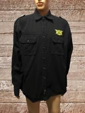 John Deer Black Long Sleeve Warm Winter Button Down Utility Shirt with Patch XL