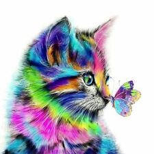 5D Diamond Painting Embroidery Cross Craft Stitch Art Kit Cat Animal Home Decor.
