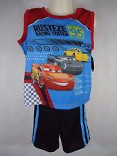Disney Pixar Cars Boy's 2 Piece Pajama Set(Sleeveless Shirt&Short Pants)-XS(4/5)