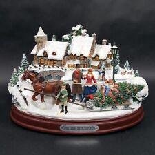 Thomas Kinkade Lighted Musical Christmas Bringing Home Tree Bradford Exchange
