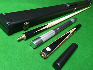 Handmade 3/4 Piece 57.1 Inch Ash Snooker / Pool Cue Set with Case and Extension