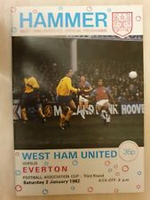 1982 FA CUP WEST HAM UNITED v EVERTON 3rd Round 2nd January 1982
