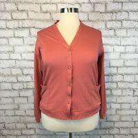 Vicky Wayne Women's Mauve Button Up Cardigan Sweater Size XL Extra Large