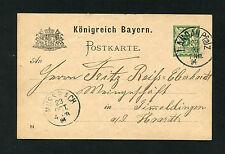 Bayern - Ganzsache aus Landau vom 23.10.1894   (EB-2)