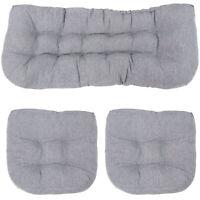 Sunnydaze Tufted Olefin 3-Piece Indoor/Outdoor Settee Cushion Set - Gray