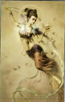 Canvas Oil painting Chinese classic female portrait Dunhuang flying girl fairy