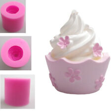 3D Cupcake Silicone Fondant Cake Sugarcraft Chocolate Baking Mold Soap Wax Mould