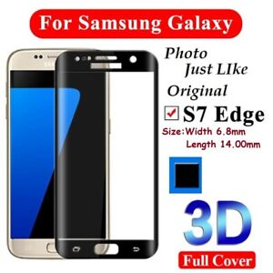 Tempered Glass Screen Protector For Samsung Glaxay Mini Glass Black 3D for S7