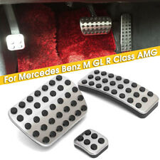 Stainless Foot Gas Brake Pedal Pads Covers For Mercedes Benz M GL R Class AMG US