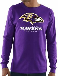 Baltimore Ravens Men's Critical Victory 3 Long Sleeve Shirt - Purple