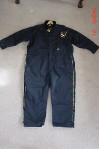 Berne Workwear Insulated Navy Heavyweight Coverall Men's Size 4xl