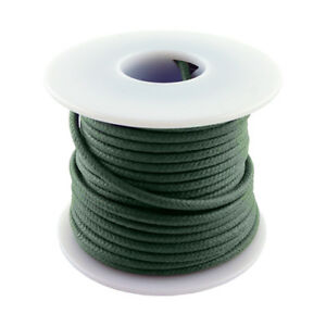 20 AWG vintage style solid cloth wire 50' spool GREEN