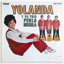 YOLANDA Y SU TRIO PERLA NEGRA SIGNED AUTOGRAPH mexico rca CAMS 450 STEREO LP EX+