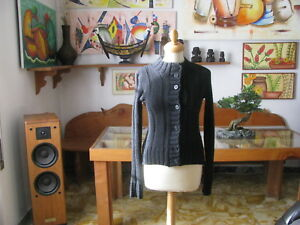 Cardigan Femme, Couleur Noire, Laine, Taille 42 - Made IN Italy
