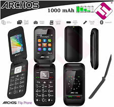 PHONE MOBILE ARCHOS FLIP FLOP FOR GRANDPARENTS DUAL SIM DOUBLE SCREEN WITH COVER