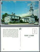INDIANA Postcard - Vincennes, Old Cathedral, Library & Rectory F12