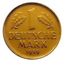 +++ 1 DM 1959  - 24 Karat vergoldet - 60.Geburtstag / diamantene Hochzeit  +++