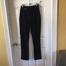 St John Sportswear By Marie Gray Black Pants Gold Hardware Sz 4