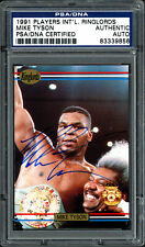 Mike Tyson Autographed 1991 Players International Ringlords Card PSA 83339856