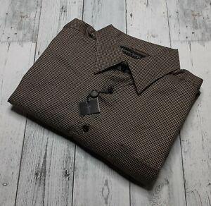 NEW Kenneth Roberts Platinum Men's XL Long Sleeve Button Shirt Check Cotton NWT