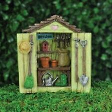Fiddlehead fairy garden Accessories - Mini Garden Shed