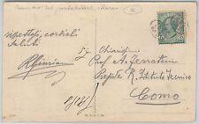ITALIA REGNO: storia postale - Sass 81 ISOLATO su CARTOLINA annullo PORTALETTERE