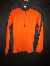 Nike Dri-Fit Orange Black Polyester 1/2 Neck Zip Pullover Jacket Men's S MAR169