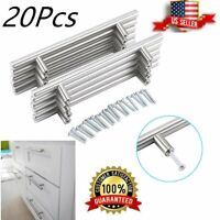 20PCS Solid Stainless Steel Brushed Nickel T Bar Kitchen Cabinet Handle Pulls