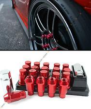 ACURA INTEGRA TSX RSX TL JDM RED CLOSE END WHEEL RIM LUG NUTS + KEY+ LOCK KIT