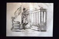Incisione d'allegoria e satira Napoleone III, Francia, Ungheria Don Pirlone 1851