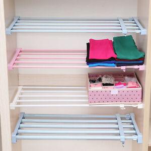 Extendable Wardrobe Storage Closet Organiser Shelf Cupboard Cabinet Divider Rack