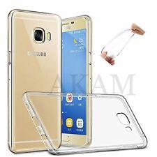 Suave Gel Transparente Cristal de silicio Flexible atrás Piel Funda Samsung Galaxy C7