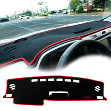 Red Rim Sun Protector Dashmat Cover Pad Dashboard Trim Mat For 13-up Toyota RAV4