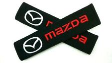 1 Pair/set Car Seat Belt Shoulder Pads Embroidery Strap Covers Cushion for Mazda