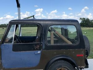 1976-1986 Jeep Cj7 Original Hardtop With Sunroof Golden Eagle