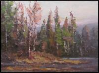 Jeff Love Art Original Oil Painting Tonalist Trees River Landscape Impressionism